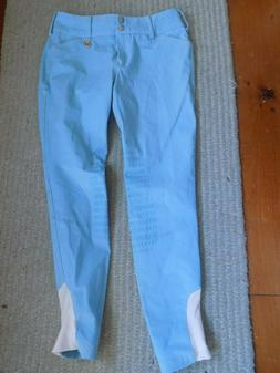 28-29 wst Gutos neon blue knee patch riding equestrian schoo