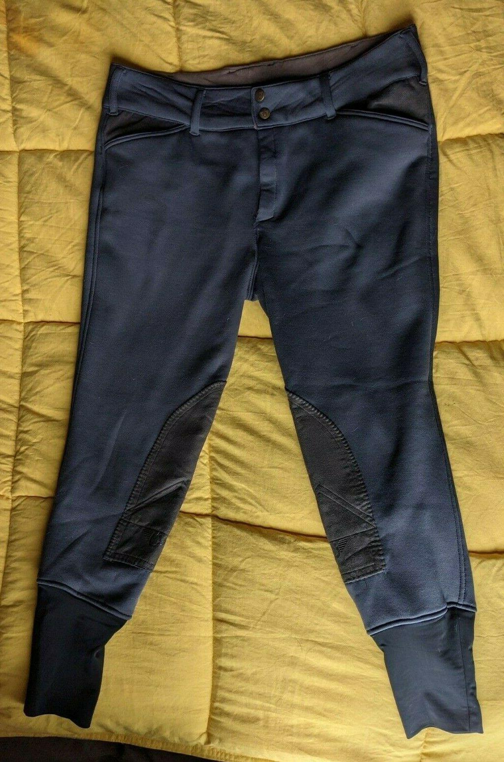 tuff rider ladies unifleece front zip breeches