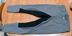 Cavallo, New, Catja full seat breeches, grey, 30L long