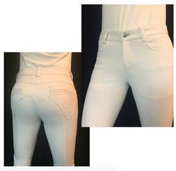 Animo Noggi Women's Riding Breeches - White