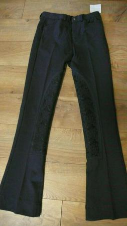 Piper Knit Breeches Riding Pants SmartPak 28R Black Mid Rise